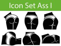 Icon Set Ass I Royalty Free Stock Photography