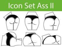 Icon Set Ass II Stock Photo
