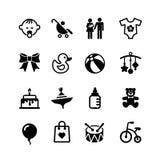 Icon set. Baby Royalty Free Stock Photo