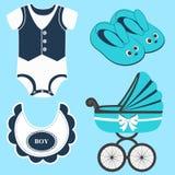 Icon set baby. Royalty Free Stock Photos