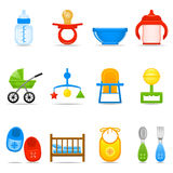 Icon Set Baby Care Royalty Free Stock Images
