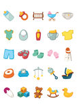Icon set - Baby products Royalty Free Stock Photography