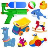 Icon Set Baby Toys Royalty Free Stock Photography