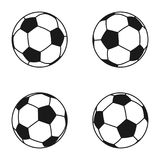 Icon set of Ball for european football. Soccer symbol, sign.  stock illustration