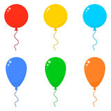 Icon Set Balloons Stock Photography
