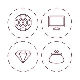Banking concept design. Icon set of banking concept over white background vector illustration Royalty Free Stock Image