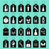 Icon set of beauty, shopping women accessories Stock Images