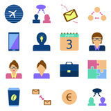 Icon set benefit. Symbols of the concept of business. Icon set benefit. Vector color image on a white background. Symbols of the concept of business Stock Photography