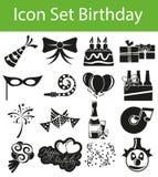 Icon Set Birthday Royalty Free Stock Photos