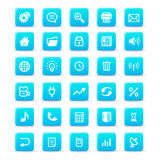 Icon set. Blue icon set on white background stock illustration