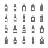 Icon set - bottle and beverage Royalty Free Stock Photos