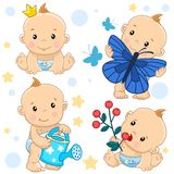 Baby boy 16 part. stock illustration
