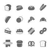 Icon set - bread and bakery royalty free illustration