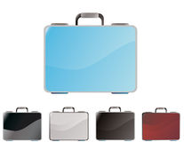 Icon set of a briefcase Stock Image