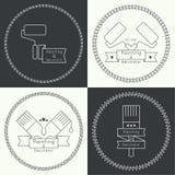 Icon set with brus Stock Photos