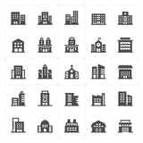Icon set - Building filled icon Stock Images