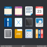 Icon set business. Art box. Vector illustrator Stock Photos
