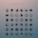 Icon set business on background Royalty Free Stock Photography