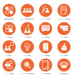 Icon Set of Business Career, Marketing in Flat Design royalty free illustration
