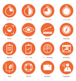 Icon  Set of Business Career, Marketing  in Flat Design Stock Images