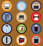 Icon Set for Business Stock Photos