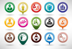 Icon Set Business and Management Stock Photography