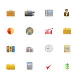 Icon set of business symbols Stock Image