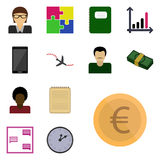 Icon set business/ Vector icon business/ Images business/ Icon money, euro Stock Images