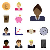 Icon set business Stock Photography