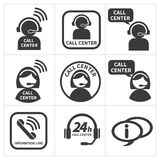 Icon set call center. Stock Image