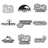 Icon set camping Stock Photo