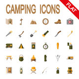Icon set Camping. Royalty Free Stock Photography