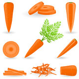 Icon Set Carrot Stock Photos