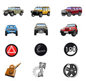 Icon set - cars Royalty Free Stock Images