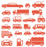 Icon set. Cars Stock Photo