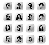 Icon set celebrity 1 Stock Photo