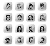 Icon set celebrity 2 Stock Photos