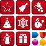 Icon set christmas Stock Images