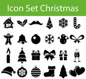 Icon Set Christmas Stock Photography