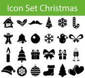 Icon Set Christmas stock illustration