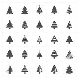 Icon set - Christmas Tree filled icon Stock Photos