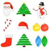 Icon Set Christmas Stock Images