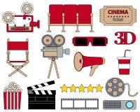 Icon set cinema Royalty Free Stock Photo