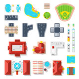 Icon Set Of City Elements Royalty Free Stock Photos