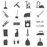 Icon Set Cleaning Stock Photo