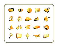 Icon Set with clipping paths Stock Images