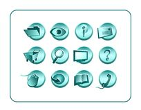Icon Set with clipping paths Stock Photography