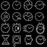 Icon set clock Royalty Free Stock Photography