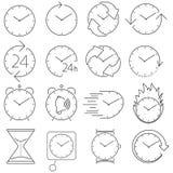 Icon set clock Stock Image