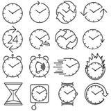 Icon set clock Royalty Free Stock Photo